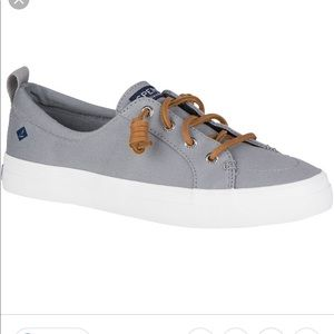 Sherry Topsiders Crest Vibe Lace Up Gray